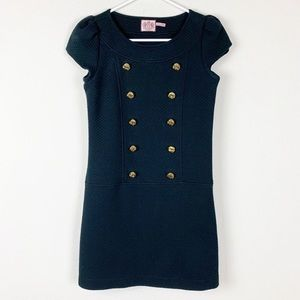 Juicy Couture Black Quilted Mini Dress.